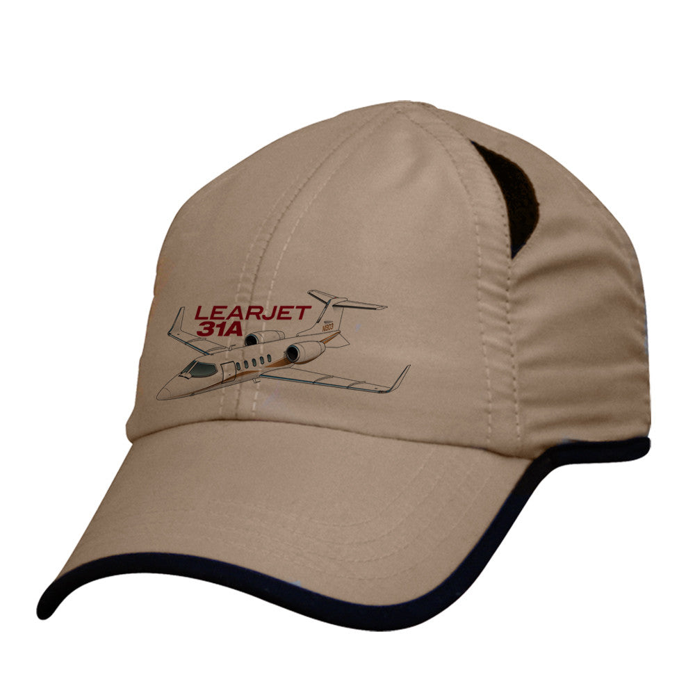 Learjet 31A Pilot Hat - Personalized with N#