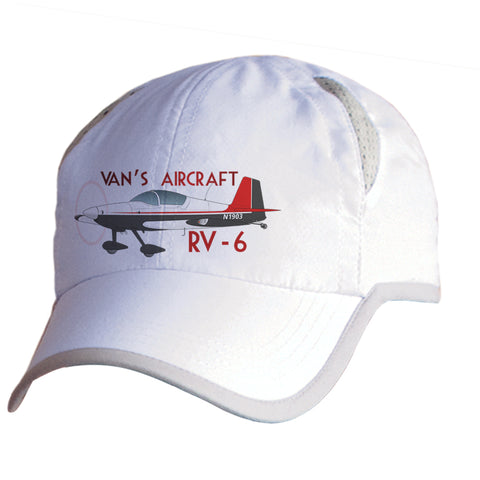 Van's Aircraft RV-6 Airplane Pilot Hat - Personalized with N#