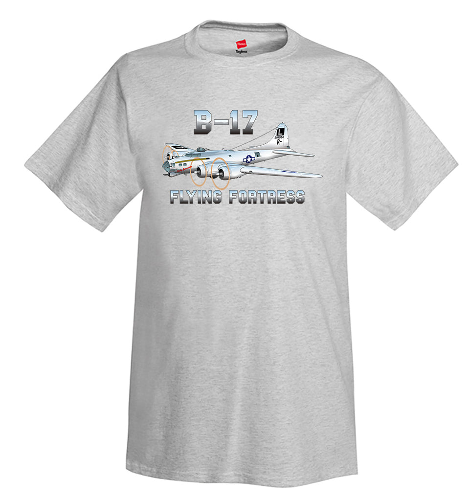 Boeing B-17 Flying Fortress Airplane T-Shirt - Personalized w/ Your N#