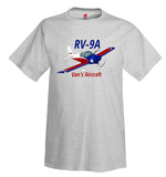 Van's Aircraft RV-9A (Red/Blue) Airplane T-Shirt - Personalized with Your N#