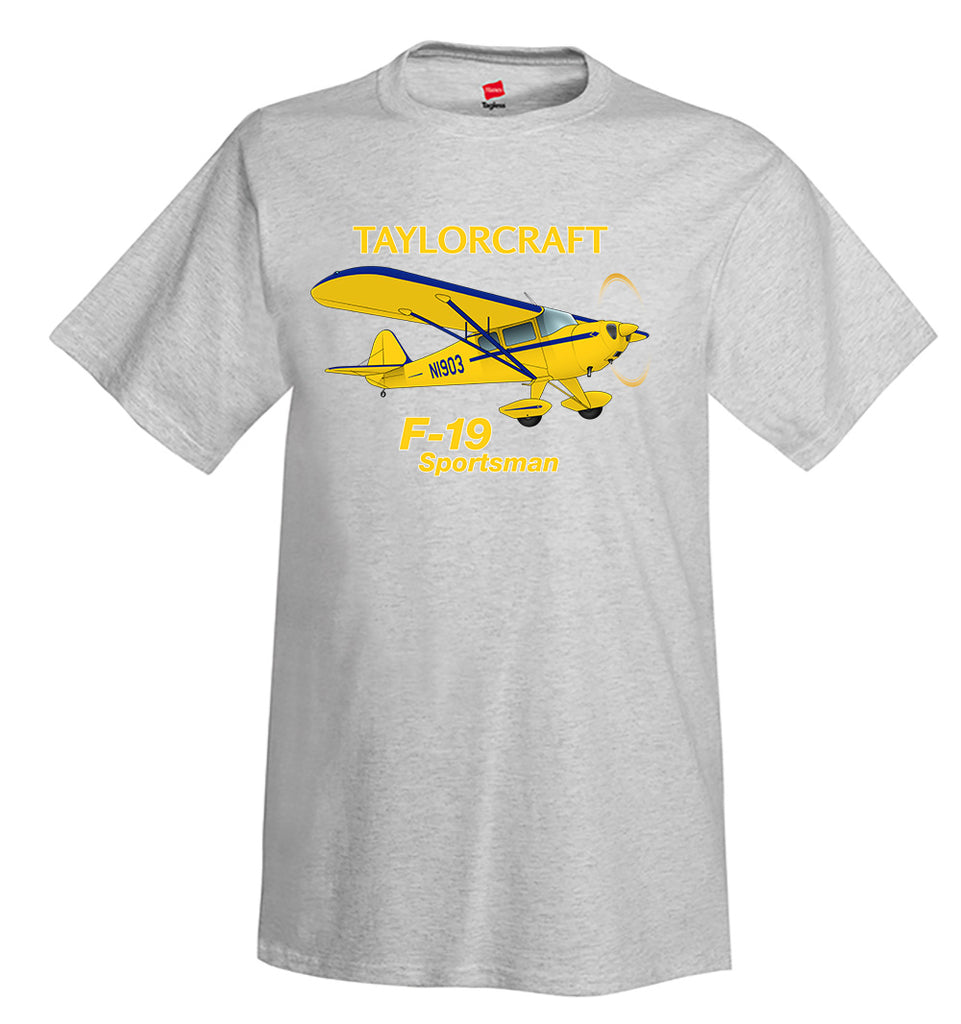 Taylorcraft F-19 Sportsman Airplane T-Shirt - Personalized with Your N#