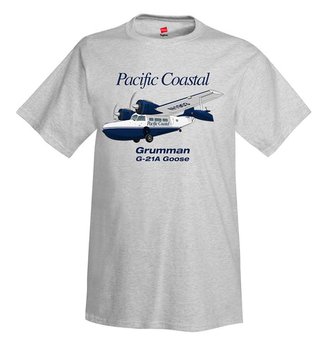 Grumman G-21A Goose (Blue) Airplane T-Shirt - Personalized with Your N#