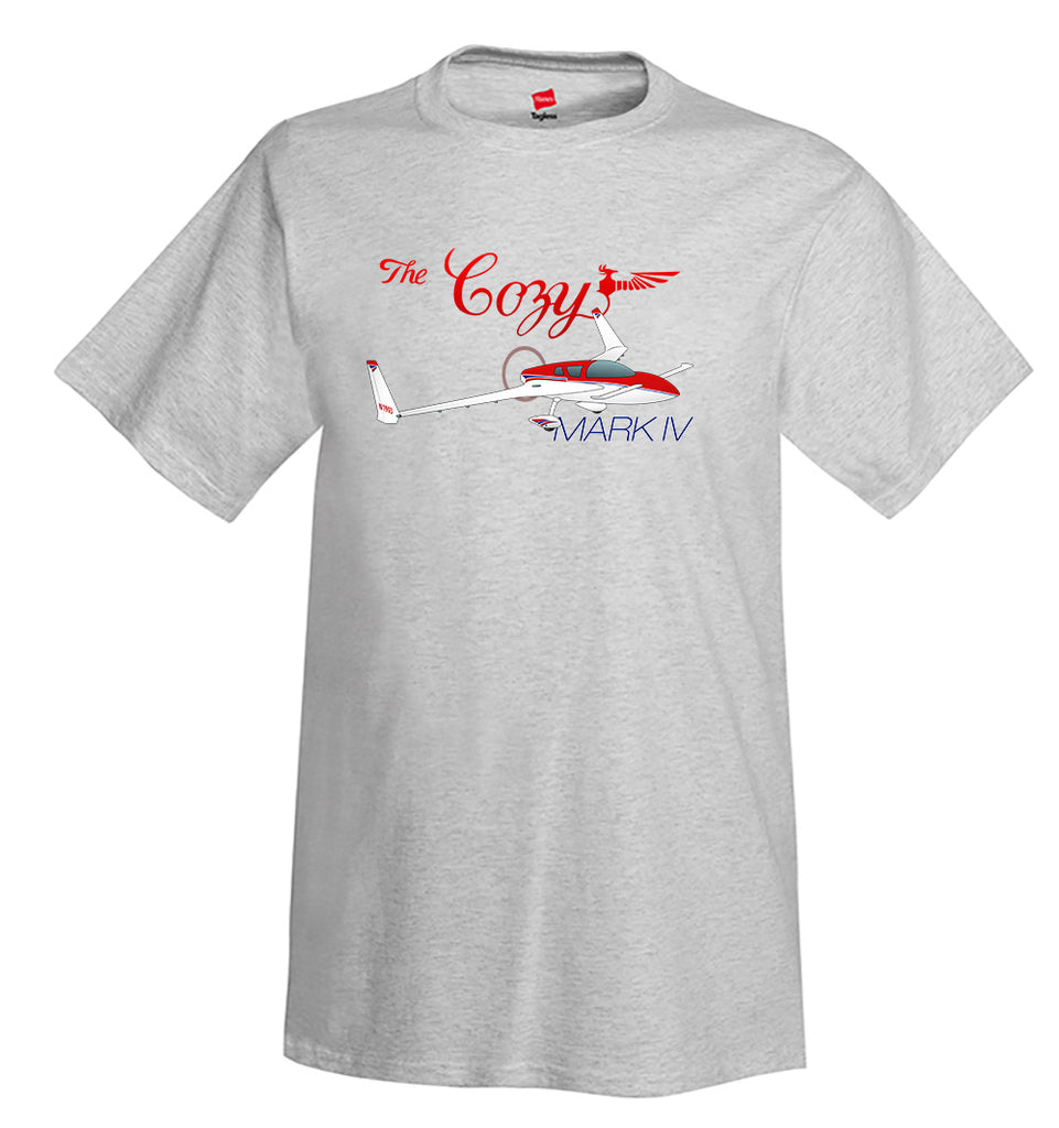 Cozy Mark IV (Red) Airplane T-Shirt - Personalized with Your N#