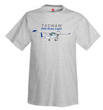 Tecnam P92 Echo Light Airplane T-Shirt - Personalized w/ Your N#