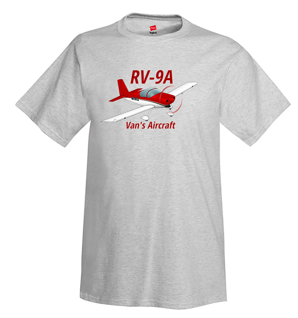 Van's Aircraft RV-9A Airplane T-Shirt - Personalized with Your N#