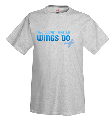 Size Doesn't Matter Wings Do Airplane Aviation T-Shirt