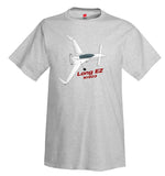 Rutan Model 61 Long EZ (White) Airplane T-Shirt - Personalized w/ Your N#