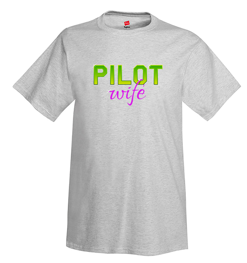 Pilot Wife Airplane Aviation T-Shirt