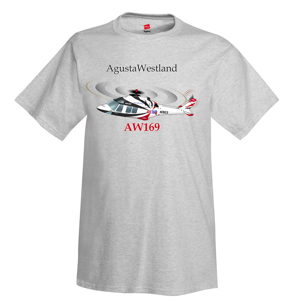 AgustaWestland AW169 Helicopter T-Shirt - Personalized with Your N#
