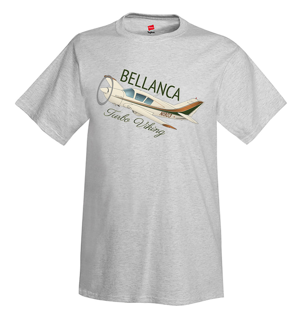 Bellanca Turbo Viking (Brown/Green) Airplane T-Shirt - Personalized w/ Your N#