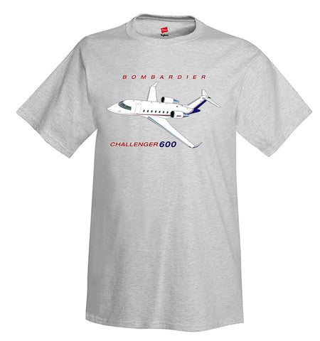 Bombardier Challenger 600 (Red/Blue) Airplane T-Shirt - Personalized w/ Your N#