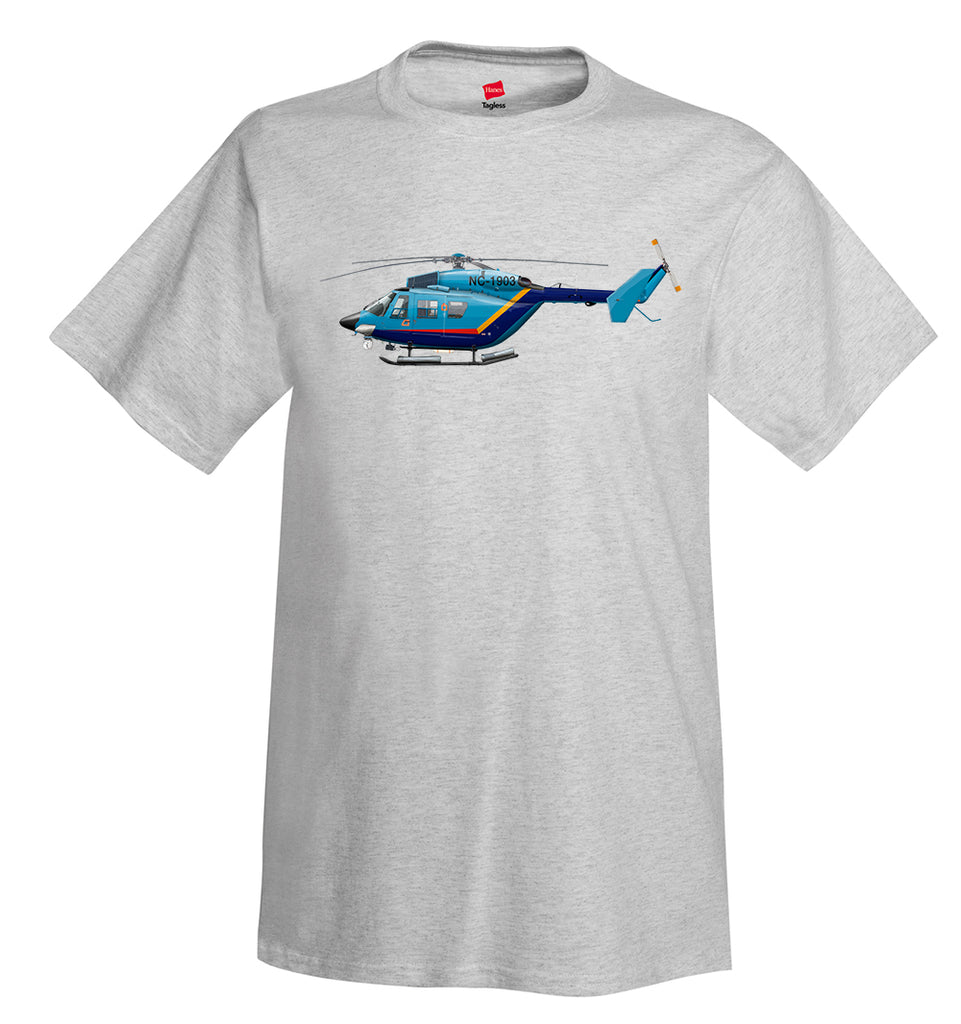MBB / Kawasaki BK 117 Helicopter T-Shirt - Personalized with Your N#