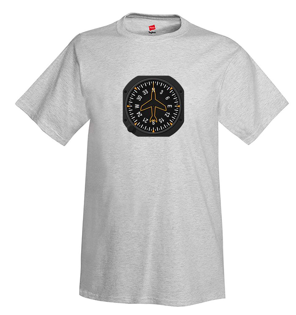 Heading Indicator Airplane Aviation T-Shirt