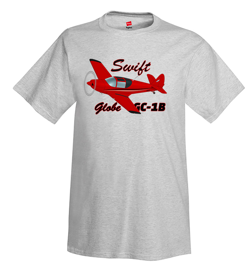 Globe / Temco Swift GC-1B (Red/Black) Airplane T-Shirt - Personalized w/ Your N#