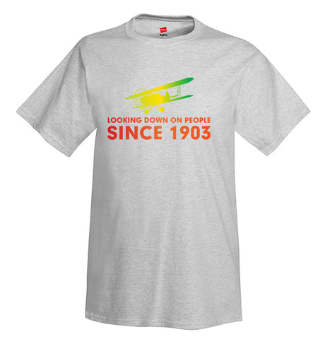 Looking Down On People Airplane Aviation T-Shirt