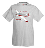 (Red/Silver) Airplane T-Shirt - Personalized with Your N#