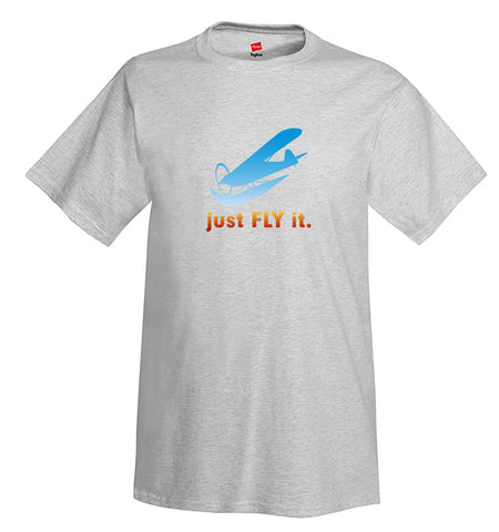 Just Fly It Airplane Aviation T-Shirt