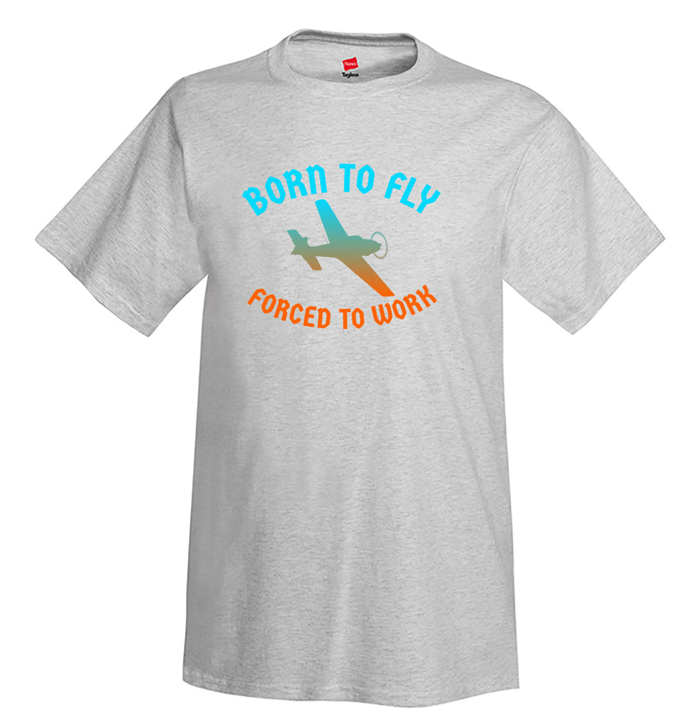 Born to Fly Airplane Aviation T-Shirt
