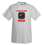 I Like To Get High Airplane Aviation T-Shirt