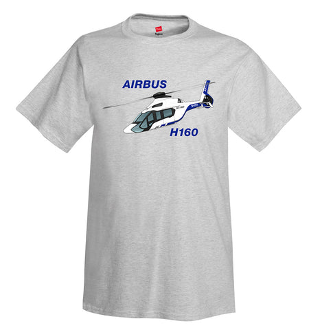 Airbus H160 (Blue/Black) Helicopter T-Shirt - Personalized with Your N#