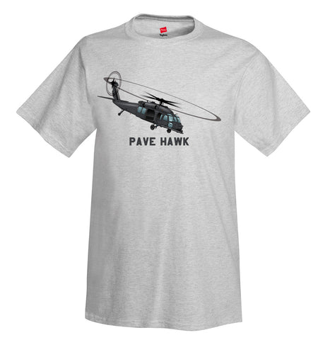 Sikorsky HH-60 Pave Hawk (Black) Helicopter T-Shirt - Personalized with Your N#
