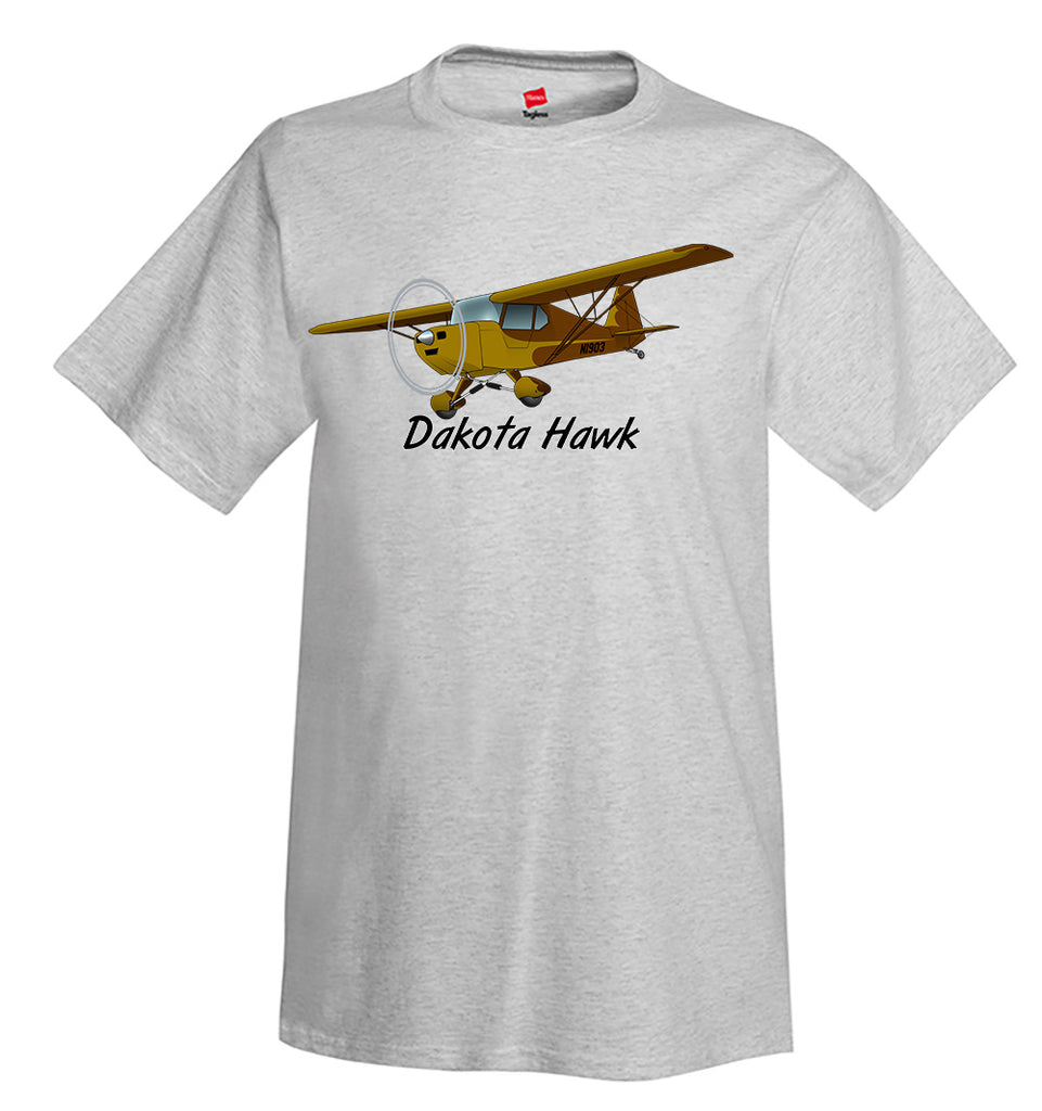 Fisher Dakota Hawk Airplane T-Shirt - Personalized with Your N#