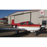Mooney M20K / 252 TSE (Red/Gold) Airplane Design