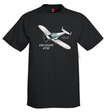 Erco Ercoupe 415C (Black) Airplane T-Shirt - Personalized with Your N#