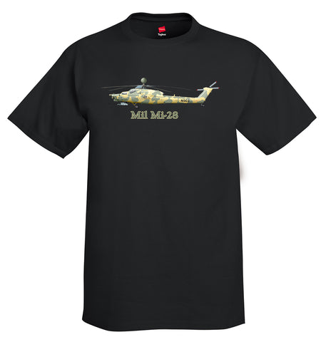 Mil Mi-28 Helicopter T-Shirt - Personalized with Your N#