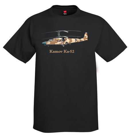 Kamov Ka-52 Helicopter T-Shirt - Personalized with Your N#