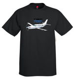 Socata TBM 700 (Blue/Black) Airplane T-Shirt - Personalized with Your N#