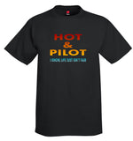 Hot Pilot Airplane Aviation T-Shirt