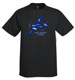1951 Ryan Navion B (Blue/Yellow)  Airplane T-Shirt - Personalized w/ Your N#