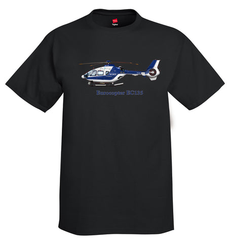 Eurocopter EC135 Helicopter T-Shirt - Personalized with Your N#