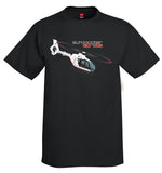 Eurocopter EC135 (Black) Helicopter T-Shirt - Personalized with Your N#