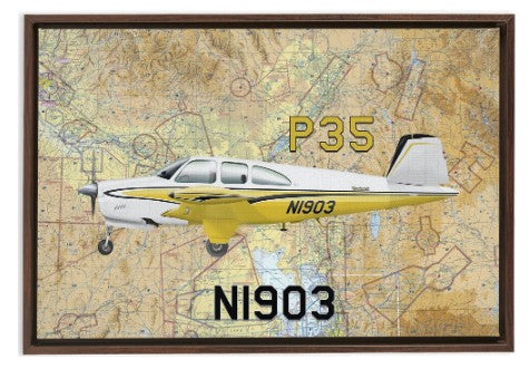 Custom Airplane Canvas Framed Wraps Airport Maps