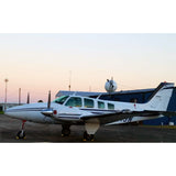 Beechcraft Baron Beech 58 Blue Siver 2 model 1