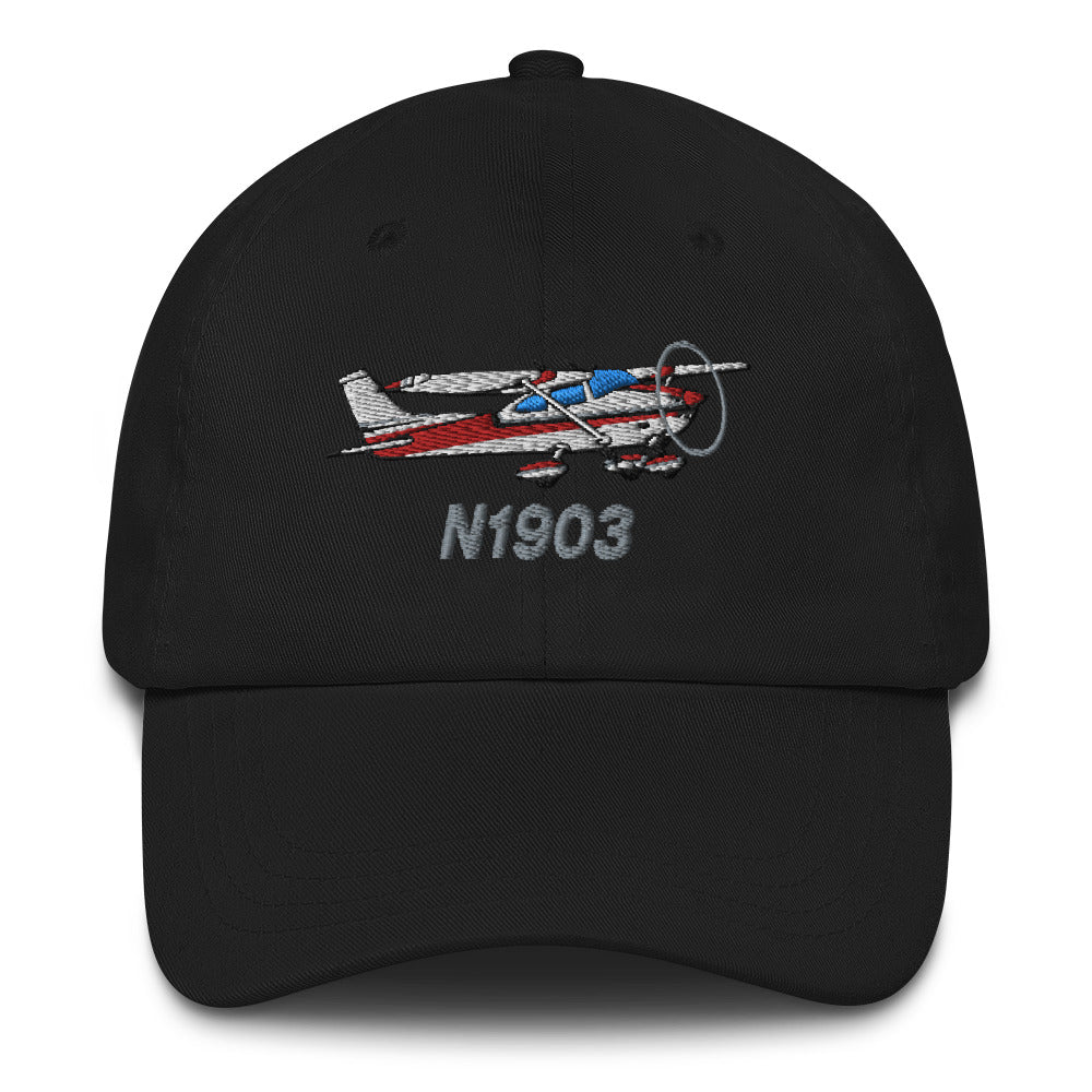 Airplane Embroidered Classic Dad Cap (AIR35JJ182-R1) - Personalized