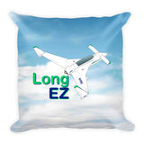 Rutan Model 61 Long-EZ Airplane Custom Throw Pillow Case Stuffed & Sewn