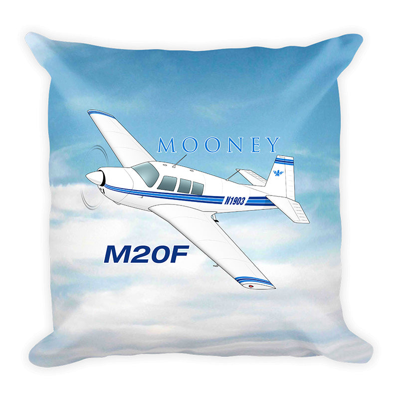 Mooney M20F Airplane Custom Throw Pillow Case Stuffed & Sewn