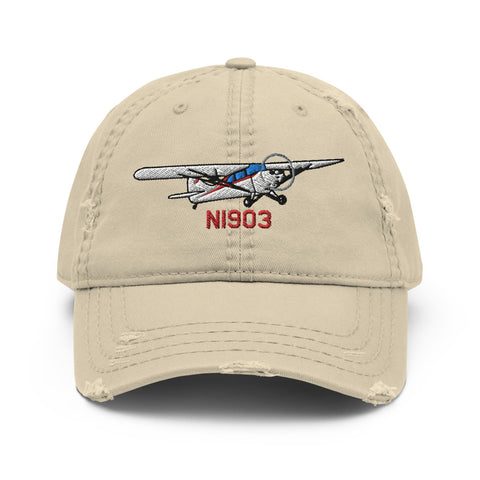 Aeronca Chief Airplane Embroidered Distressed Hat AIRJ5I38911AC-R1 - Add your N#