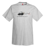 Aérospatiale Alouette II Helicopter T-Shirt - Personalized with Your N#