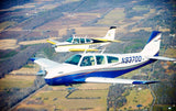 Beechcraft Bonanza F33A Blue model 2