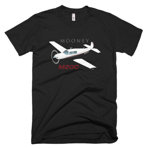 Mooney M20 / M20C Airplane T-shirt- Personalized with N#