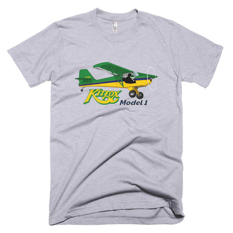 Kitfox Model 1 (Green/Yellow) Airplane T-shirt - Personalized with N#