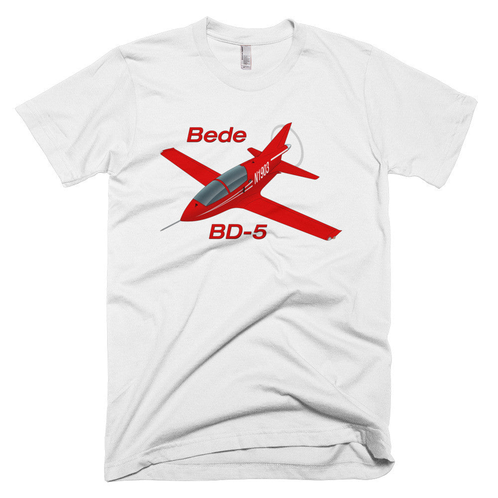 Bede BD-5 Airplane T-shirt - Personalized your N#