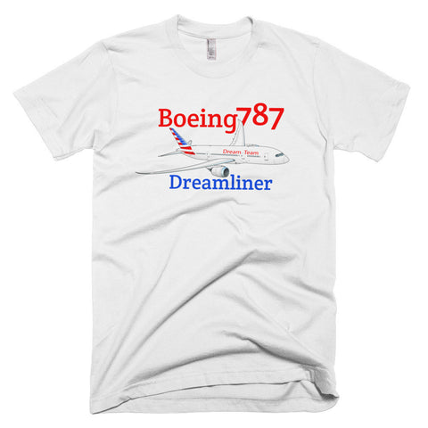 "Boeing 787 Dreamliner ""Dream Team"" Airplane T-shirt - Personalized with N#"