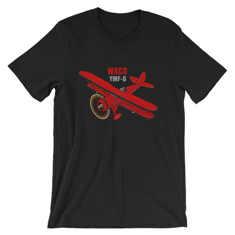Waco YM-5 (Red/Black) Airplane T-shirt - Personalized with N#