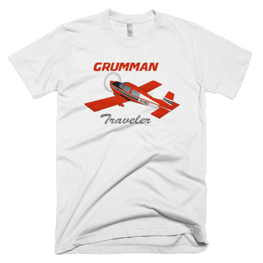 Grumman American AA-5 Traveler Airplane T-shirt - Personalized with Your N#