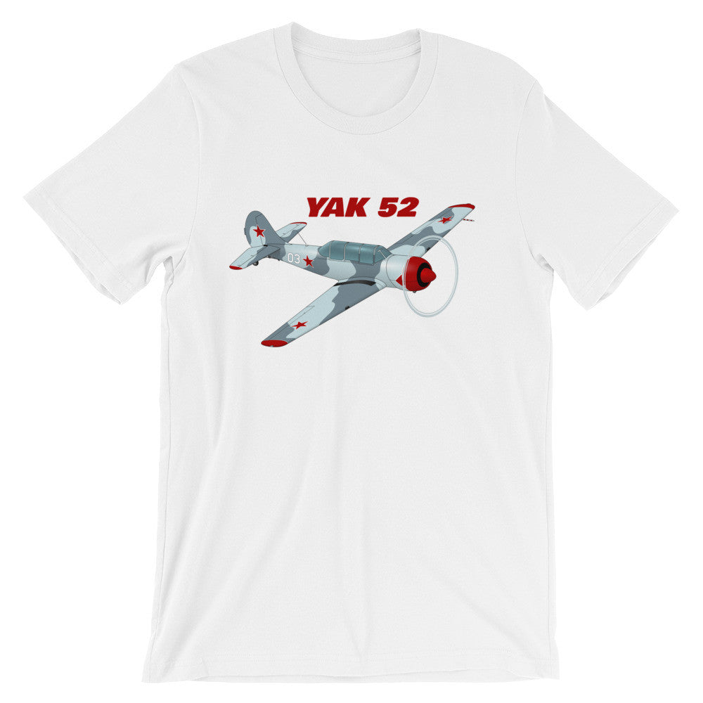 Yakovlev Yak-52 Airplane T-shirt - Personalized with N#